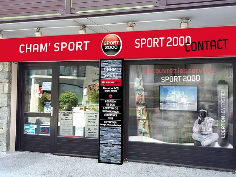 Ski hire shop CHAM SPORT LA GINABELLE CENTRE in 120, place du poilu, Chamonix