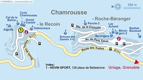 Resort Map Chamrousse