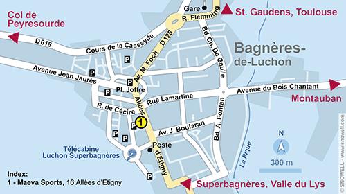 Resort Map Luchon-Superbagnères