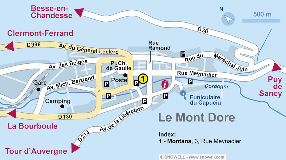 Ski hire shop MONTANA, Le Mont Dore in 3, rue Meynadier