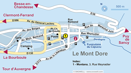 Resort Map Le Mont Dore