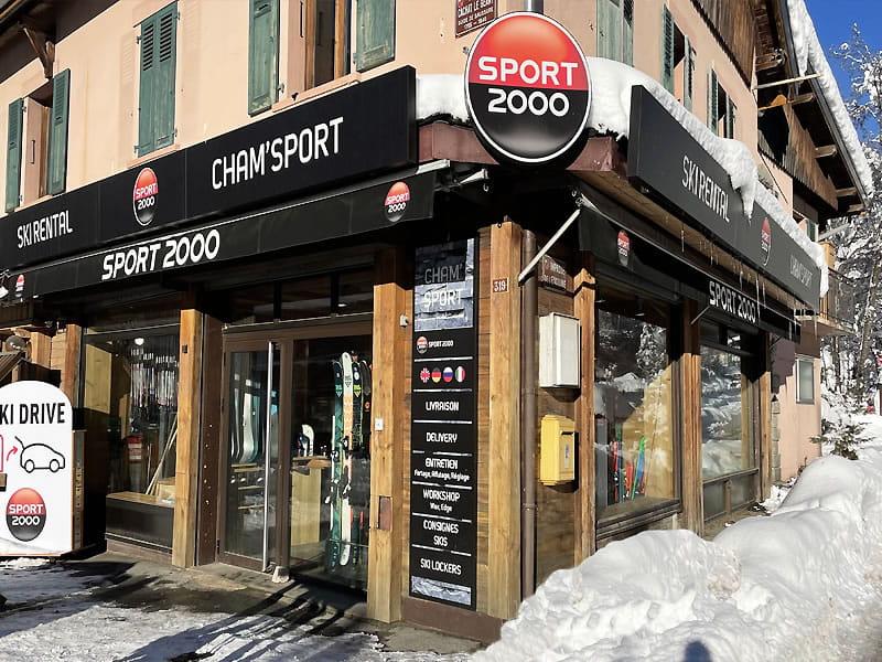 Ski hire shop CHAM SPORT MONTENVERS in 319, rue Cachat le Géant, Chamonix
