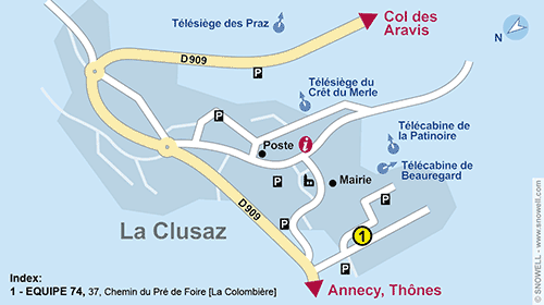 Resort Map La Clusaz