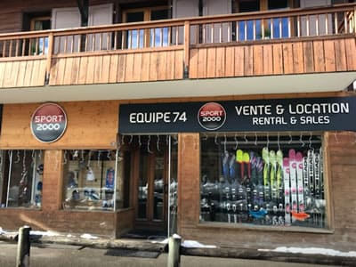 Ski hire shop EQUIPE 74, La Clusaz in 37, Chemin du Pré Foire [La Colombière]