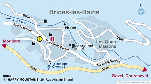 Resort Map Brides les Bains