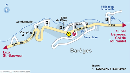 Resort Map Bareges