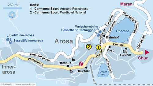 Resort Map Arosa