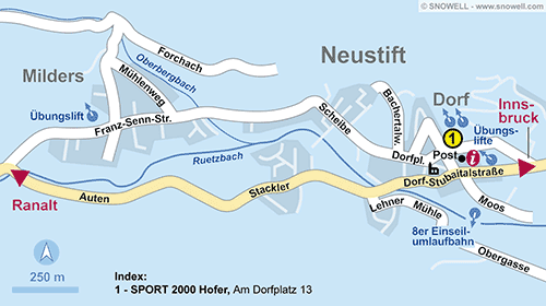 Resort Map Neustift im Stubaital