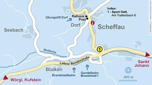 Resort Map Scheffau