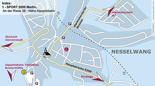 Resort Map Nesselwang