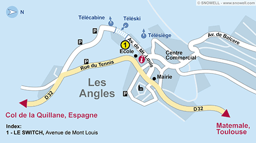Resort Map Les Angles