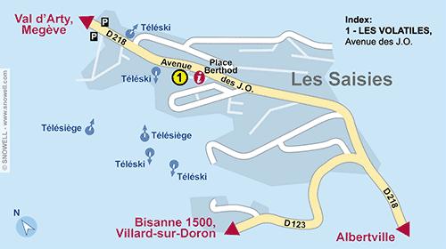 Resort Map Les Saisies