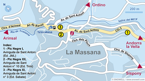 Resort Map La Massana