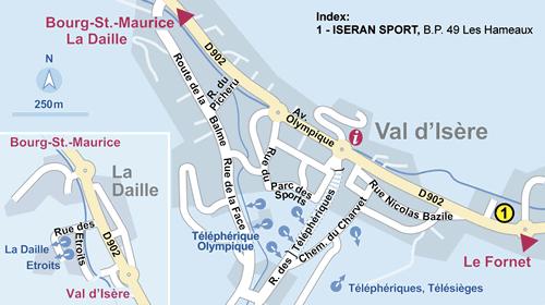 Resort Map Val d Isere