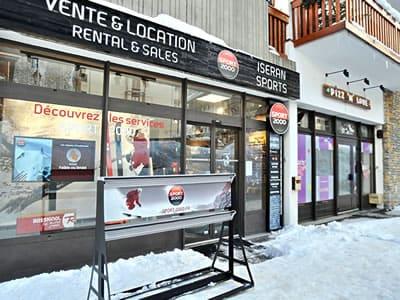 Ski hire shop ISERAN SPORT, Val d Isere in B.P. 49 Les Hameaux