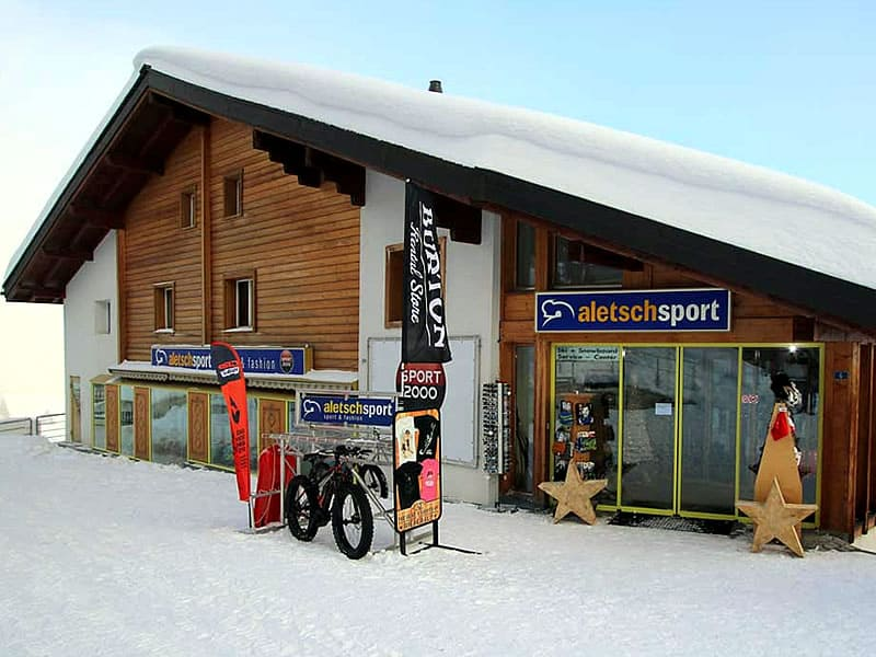 Ski hire shop ALETSCH SPORT MITTE, Bahnhofstrasse 6 - Bergstation Luftseilbahn Mörel in Riederalp