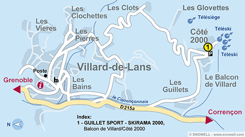 Resort Map Villard de Lans - Cote 2000