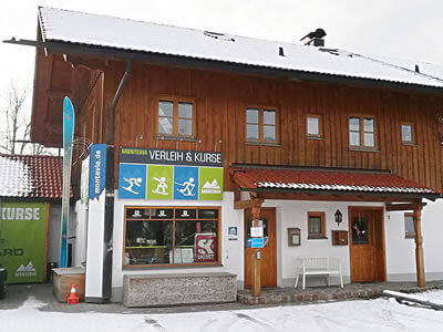 Ski hire shop Montevia, Lenggries in Bergbahnstrasse 1