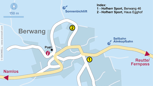 Resort Map Berwang