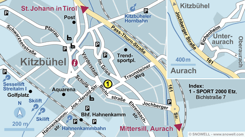 Resort Map Kitzbühel