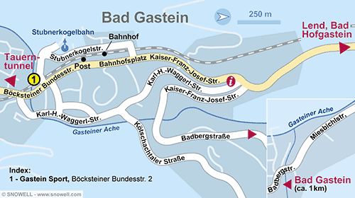 Resort Map Bad Gastein