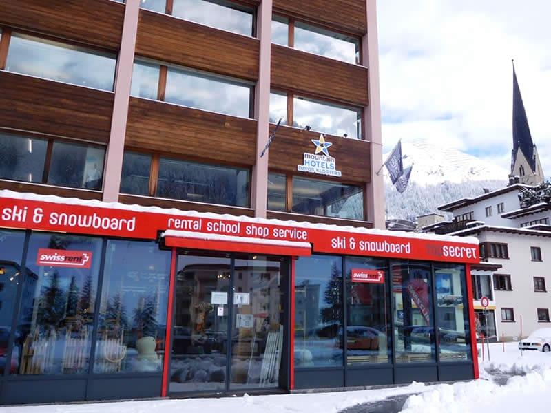 Ski hire shop Top Secret Ski & Snowboard Company, Davos-Platz in Brämabüelstrasse 11, Talstation Jakobshornbahn