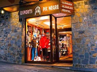 Ski hire shop Pic Negre VII, Arinsal in C/Général Edifici Areny (Entrada Pueblo)
