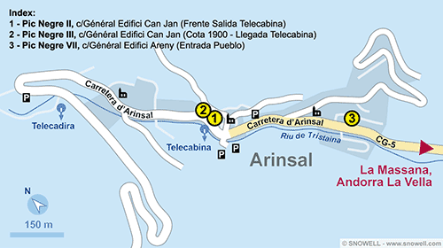 Resort Map Arinsal