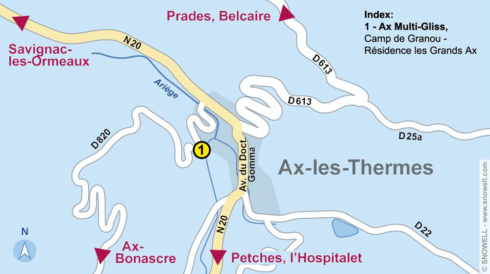 Ski hire shop AX MULTIGLISS, Ax-les-Thermes in Camp de Granou - Résidence les Grands Ax