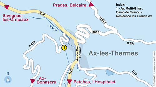 Resort Map Ax-les-Thermes