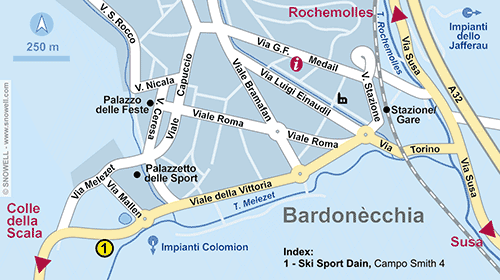 Resort Map Bardonecchia