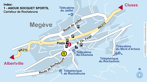 Resort Map Megève