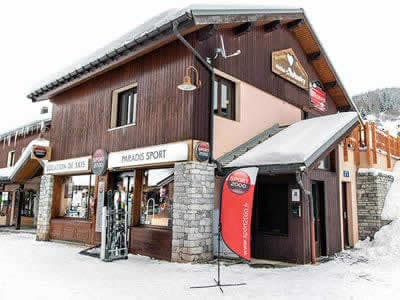 Ski hire shop PARADIS SPORT, Peisey Vallandry in Centre Commercial de Vallandry