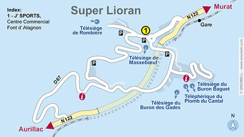 Resort Map Super Lioran