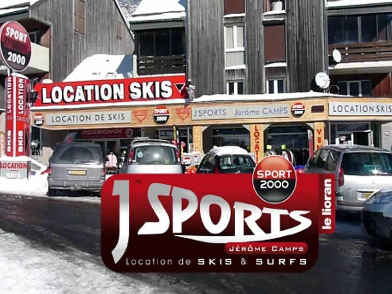Ski hire shop J'SPORTS, Super Lioran in Centre Commercial Font d'Alagnon