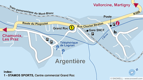 Resort Map Argentière