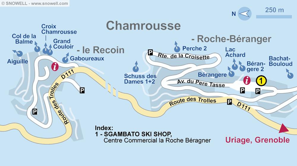 Ski hire shop SGAMBATO SKI SHOP, Chamrousse in Centre Commercial la Roche Béranger