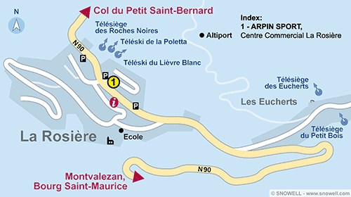 Resort Map La Rosiere