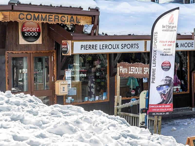 Ski hire shop PIERRE LEROUX SPORTS, La Plagne - Villages in Centre Commercial