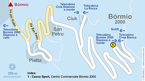Resort Map Bormio 2000-Valdisotto