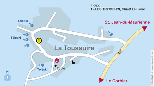 Resort Map La Toussuire