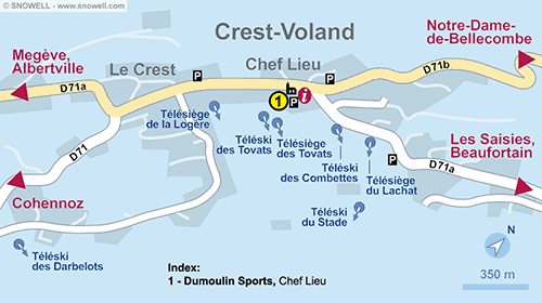 Resort Map Crest-Voland