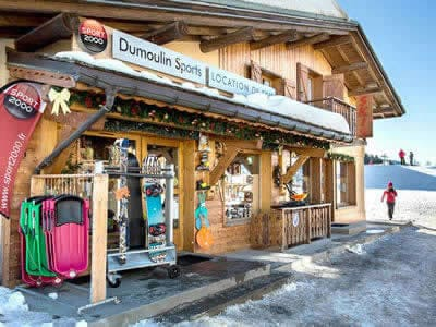 Ski hire shop DUMOULIN SPORTS, Crest-Voland in Chef Lieu
