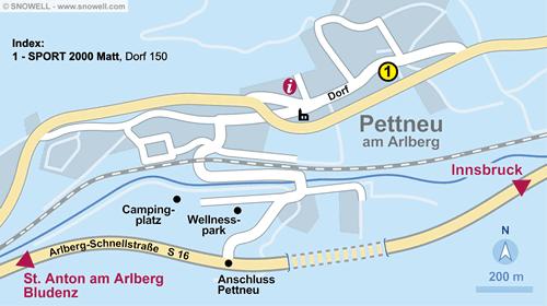 Resort Map Pettneu