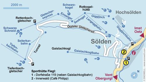 Resort Map Sölden