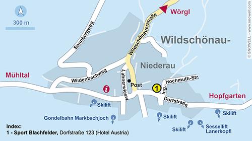 Resort Map Wildschönau-Niederau