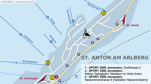 Resort Map St. Anton am Arlberg