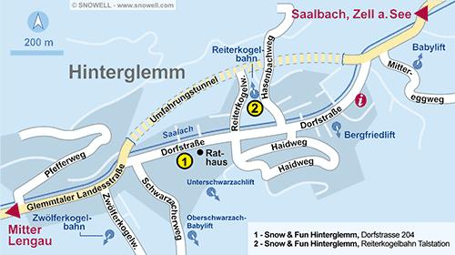 Resort Map Hinterglemm