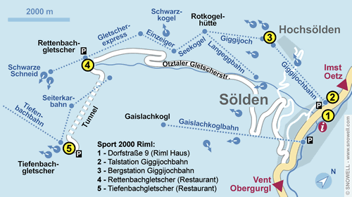Resort Map Sölden