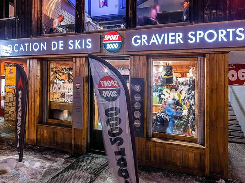 Ski hire shop GRAVIER SPORT, La Foux d'Allos in Etoile des neiges